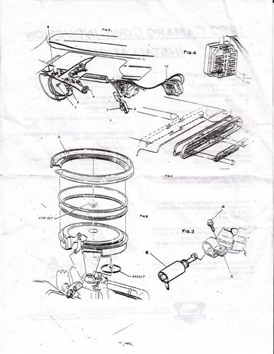 1969 camaro cowl induction flapper valve