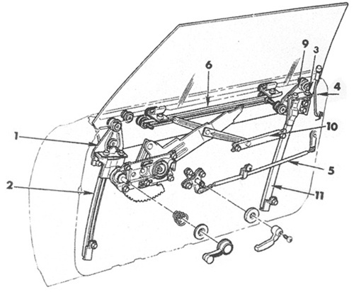 1969 chevelle door window diagram