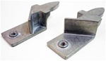 1968-1969 Rear Door Glass Upper Stops, Pair