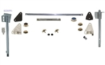 1968 - 1969 Camaro Door Window Glass Unassembled Kit with Tracks, Complete, Clear, RH