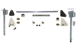 1968 - 1969 Camaro Door Window Glass Unassembled Kit with Tracks, Complete, Clear, LH