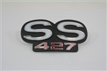 "1967 - 1968 Grille Emblem, Super Sport ""SS 427"" Logo, USA Made (Fits 67 Standard Grille and 67 - 68 RS Grille)"