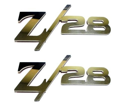 1967 2014 camaro fender emblems z 28 logo stainless. Black Bedroom Furniture Sets. Home Design Ideas