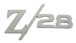 1967-2012 Custom Solid Z/28 Emblem in Polished Stainless Steel w/ Adhesive Backing, Universal