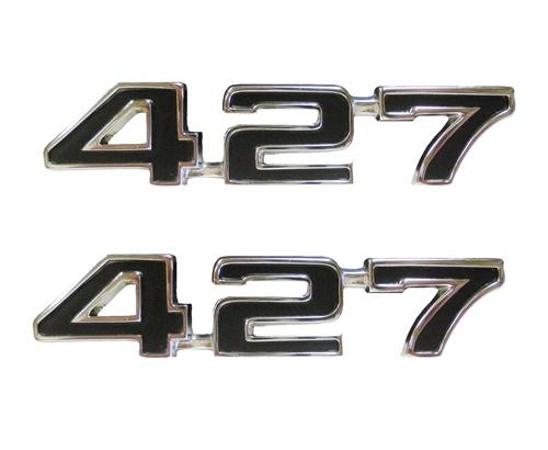 1969 camaro fender emblems 427 engine size black pair. Black Bedroom Furniture Sets. Home Design Ideas