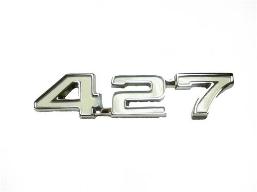 1968 camaro fender emblem 427 engine size white and. Black Bedroom Furniture Sets. Home Design Ideas