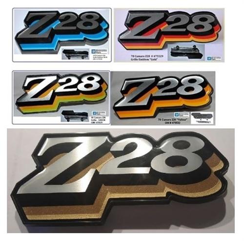1978 camaro grille emblem z28 logo choice of color. Black Bedroom Furniture Sets. Home Design Ideas