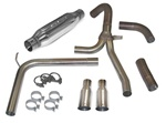 "1998-2002 Exhaust System, ""Loud Mouth"" LS1 with 3.5"" Slash Tips"