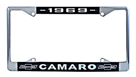 License Plate Frame 1969 Camaro Bowtie
