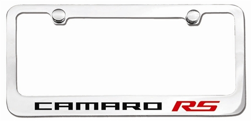 camaro license plate frame  custom engraved   u0026quot rs u0026quot
