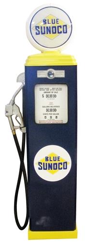 Gas Pump Quot Blue Sunoco Quot Classic Full Size Replica