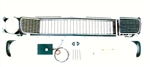 1967 - 1968 Camaro Electric RS CHROME Grille Kit, Rally Sport Conversion with Electric Motor Upgrade, Preassembled
