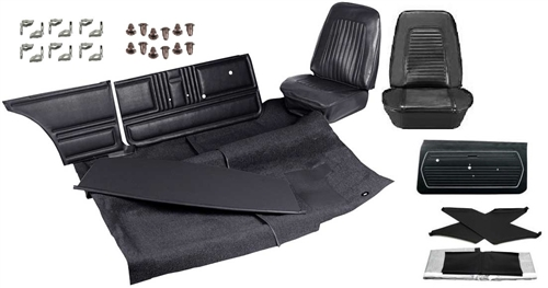 1967 1969 camaro standard interior kit for coupe stage 1 basic kit with unassembled door panels