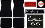 1973 Carpeted Floor Mats Set with Custom Embroidered Logos & Custom Colors