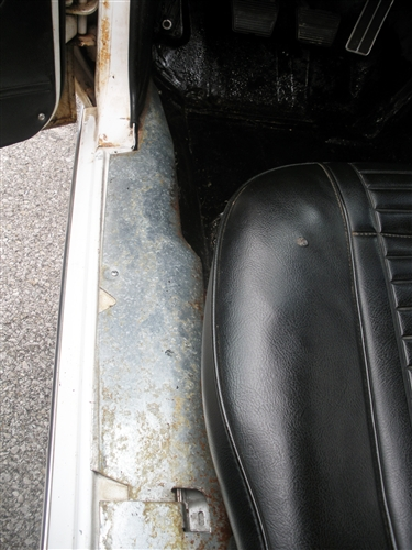 1967 1969 Camaro Door Jamb Sill Plate Under Carpet