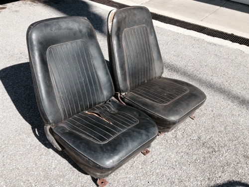 1967 1968 Camaro Front Bucket Seat Assemblies Set