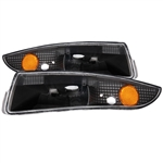 1993 - 2002 CAMARO EURO PARKING / TURN SIGNAL LIGHTS BLACK AMBER LIGHT LENS