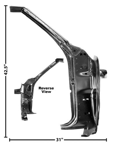 1969 Camaro Door Frame And A Pillar Assembly Inner Rh