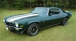 1970 - 1972 Z28 Stripe Stencil Kit with Tall Rear Spoiler, Except Rally Sport
