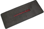 Trunk Deck Welcome Mat, CAMARO SS, Black with Red Lettering