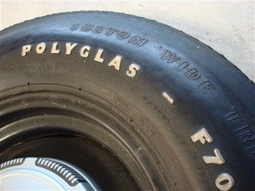 Chrysler / Mopar Goodyear Polyglas F70-14 Spare Tire and Wheel