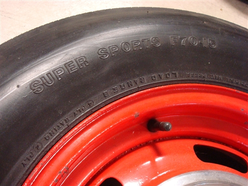 Chevy Rally Wheels With Firestone F70 15 Wide Oval Tires