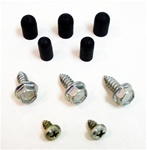 1969 Windshield Washer Bottle Bracket Screws and Rubbers for R/S