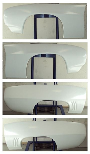 1969 Camaro Fiberglass WIDE Body Panel Kit, PAIR OF FRONT FENDERS AND REAR QUARTER PANELS